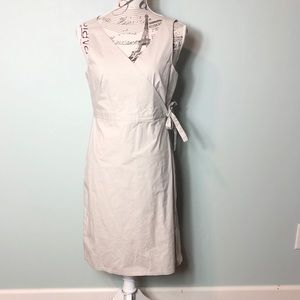 J. Crew tan wrap dress size 12 cotton